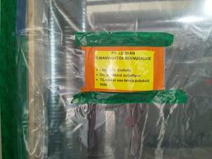 Ilmanvaihtokanavien suojaus Hartelan työmaalla