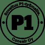 P1-työmaalogo