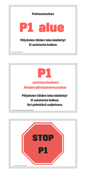 P1-kylttejä monikielisinä - lataa